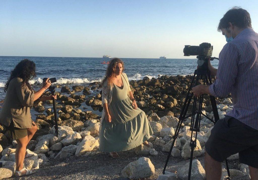Estrella rodando esta semana en Malaga
